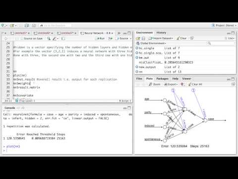 R-Session 11 - Statistical Learning - Neural Networks
