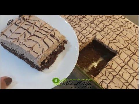 gâteau-dessert-حصريا-في-القناة-حلوة-لاكريم-رائعة-بالطراب-اليدوي-بمقاديرغريبة-/طورطة-لاكريم-/تورتة
