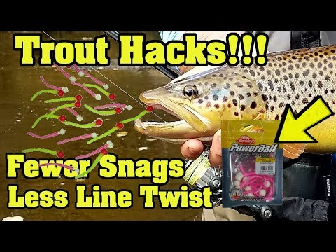 2018 Trout Fishing Hacks!  How To Reduce Line Twist And Snags.  Great New Rigs. Weedless Mice Tails!