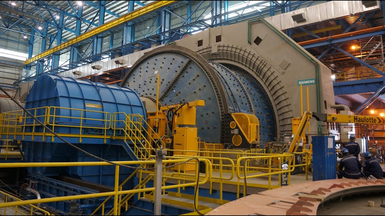 Overflow Discharge Ball Mill in Operation- Mineral Processing - YouTube