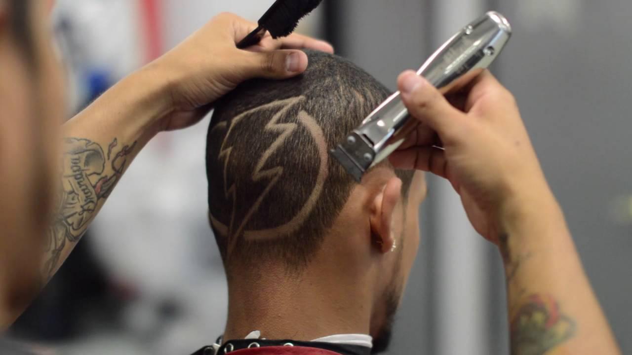 Bolt hair in lightning shaved-8007