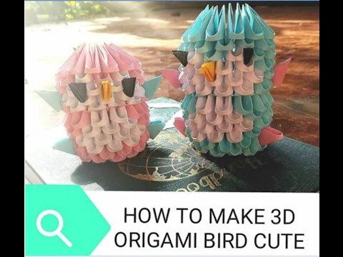 How to make 3d origami black and white small swan model1 - YouTube ... | 360x480
