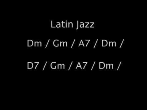 Latin Jazz backing track in Dm