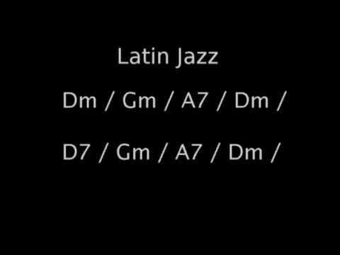 Latin Jazz backing track in Dm
