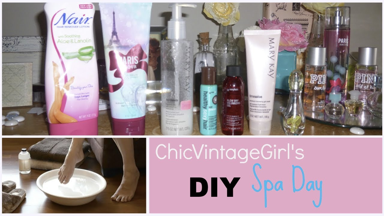 Diy spa day at home w chicvintagegirl youtube for How to make a spa at home