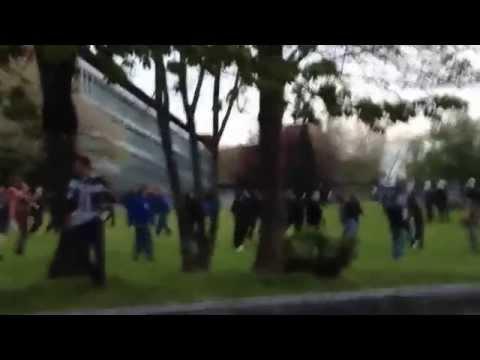 Sporting Charleroi hooligans vs Standard Liege