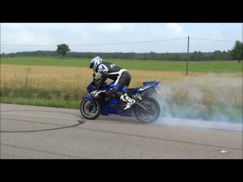 Yamaha R6 2003 Palenie Gumy,Burnout,rolling Burnout