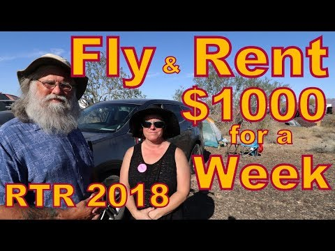 Come to the RTR: Fly to Phoenix and Rent a Car for $1000 Total for a Week: