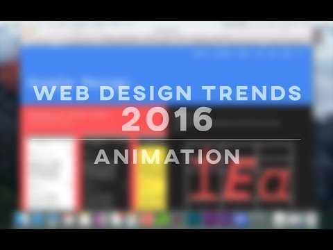 Web Design Trends 2016 – Animation