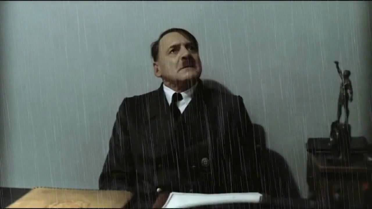 Hitler is informed it's raining