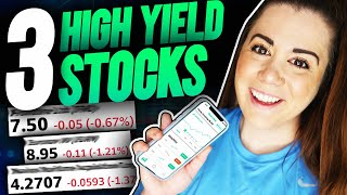 3 Safe HIGH YIELD Dividend Stocks To BUY NOW For Passive income (Robinhood Investing)