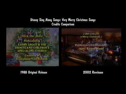 Disney Sing Along Songs Very Merry Christmas Songs Credits Comparison