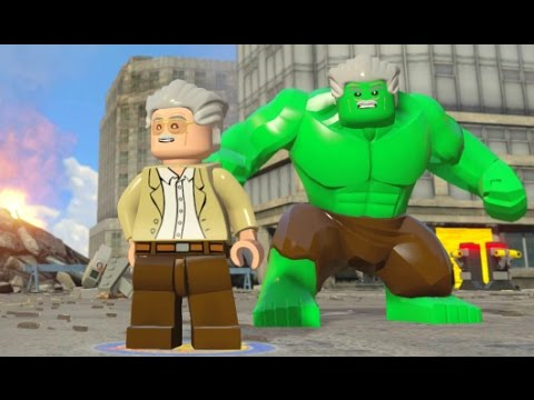 LEGO Marvel Avengers - All 35 Stan Lee in Peril Locations (How to Unlock Stan Lee / Excelsior Hulk)