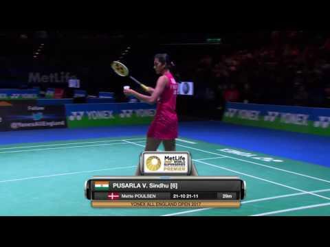 Yonex All England Open 2017   Badminton R16 M1-WS   Pusarla V. Sindhu vs Dinar Dyah Ayustine