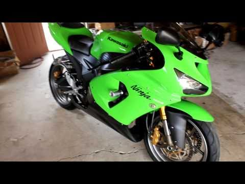 2006 green kawasaki ninja 636 zx 6r zx6r for sale youtube. Black Bedroom Furniture Sets. Home Design Ideas