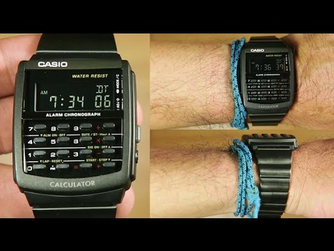 b0f3a0a7c210 Casio Calculator CA-506B-1A  black ion plated   Unboxing - YouTube