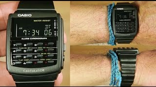 Casio Calculator CA-506B-1A *black ion plated : Unboxing