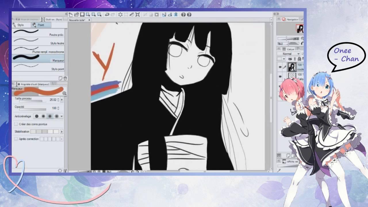 Dessin Manga !!! (#13) Fille En Yukata/Kimono En Couleur (Ai Enma)