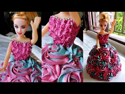 Doll Cake | Doll Cake Tutorial | Doll Cake Recipe without mold | Barbie Doll cake tutorial