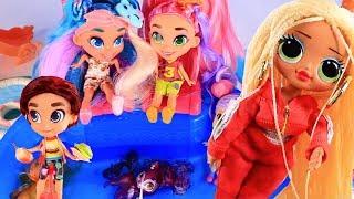 Куклы Лол Сюрприз Мультик -  Последний День Лагеря и Вечеринка в Бассейне! Lol Surprise