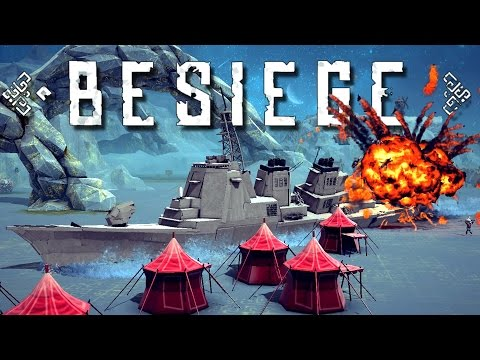 Guided Missile Destroyer Ship, Jet Truck, Little Tank and more! - Besiege Best Creations Gameplay