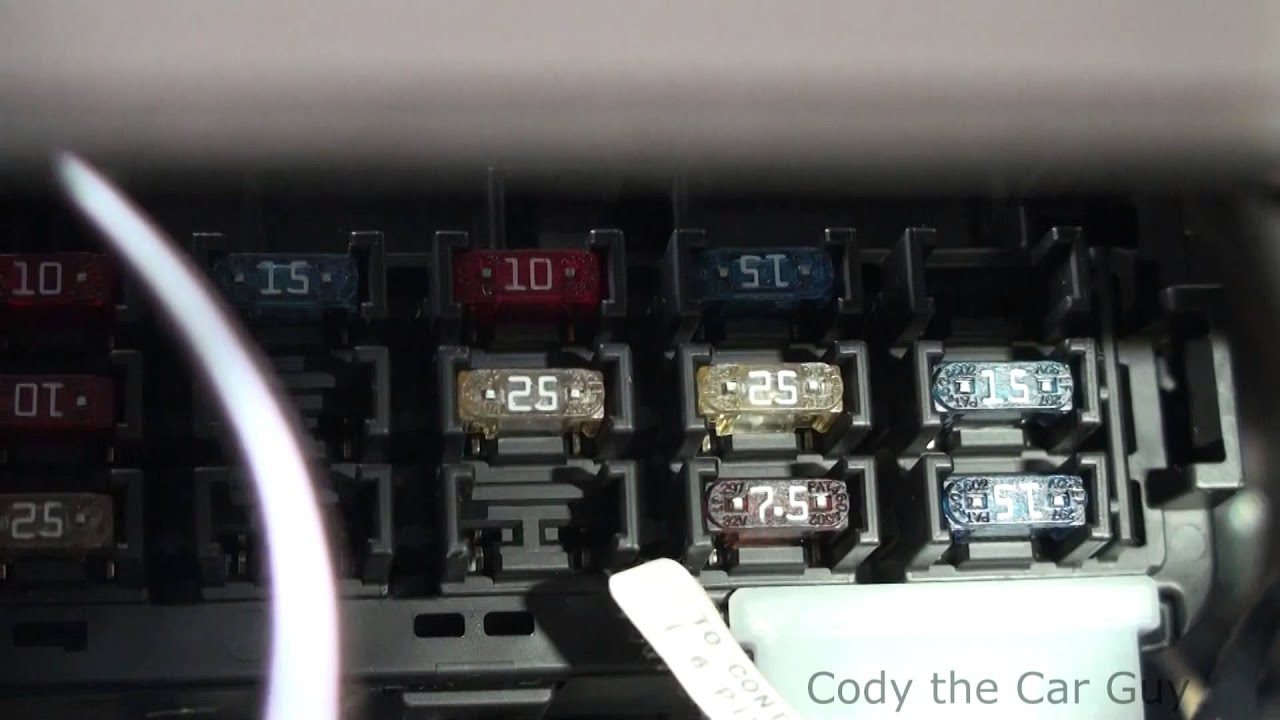 02 Toyota Corolla Fuse Box Locations Youtube 1999 Camry Diagram