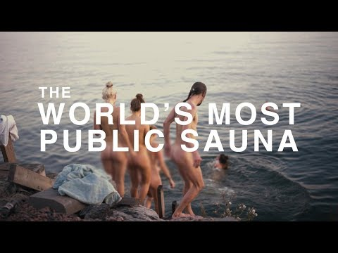 THE WORLD'S MOST PUBLIC SAUNA Welcome To Finland 8