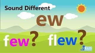 Sound Different | Ew(few) Ew(flew) | 3 Phonics Readers | Go Phonics 4C Unit 15-17 | EFL