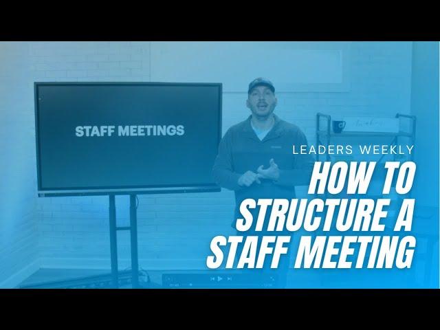 Leading Staff Meetings?