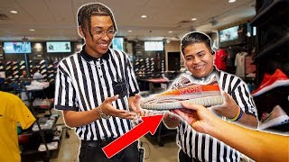 GIVING FAKE YEEZYS TO FOOTLOCKER EMPLOYEES!