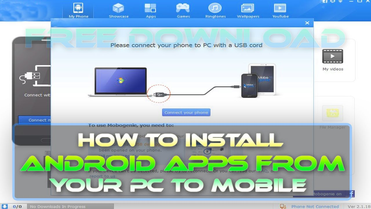 How to install android apps from your pc to mobile - YouTube