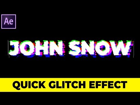 Create Quick Glitch Text Effect In After Effects - Quick After Effects Tutorial (Under 2 Minutes)