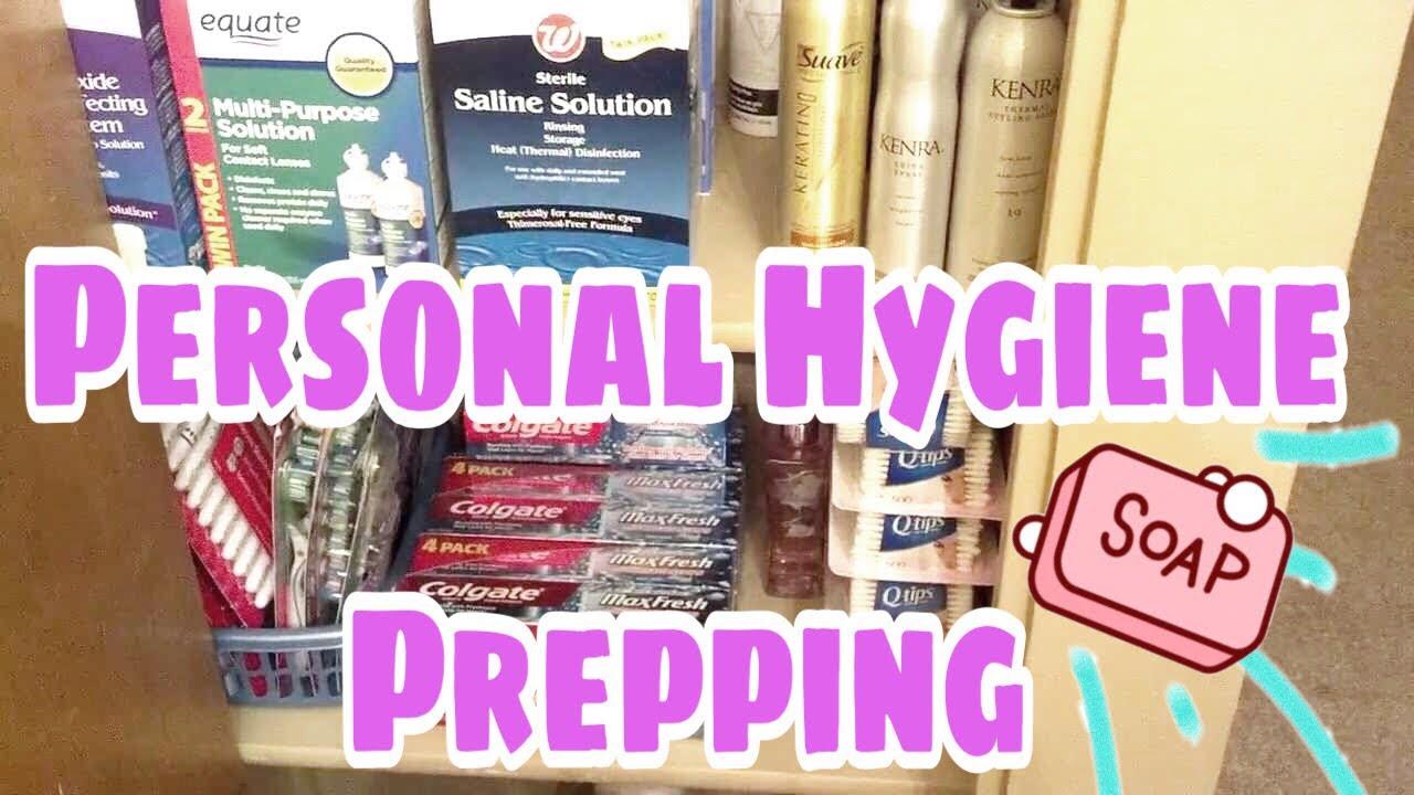 Personal Hygiene Supplies Prepping Storage Youtube