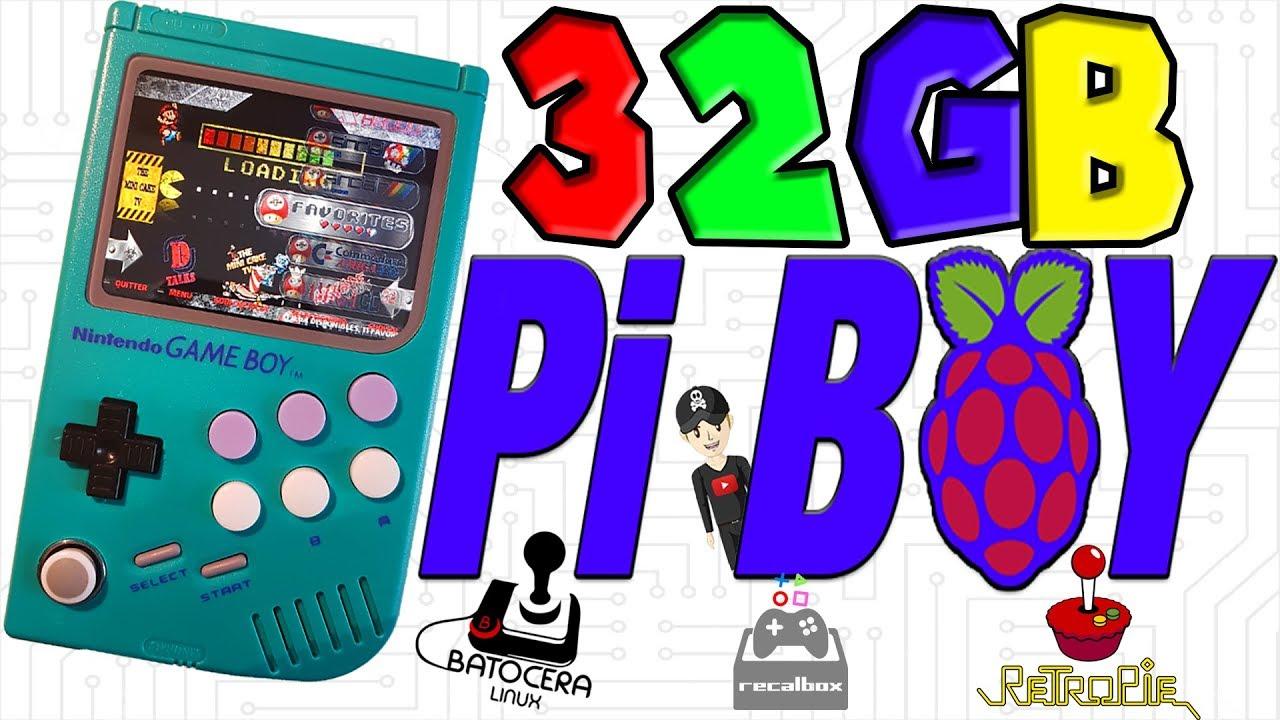 32GB] REVIEW LCL PI BOY HANDHELDS GAMEBOY RASPBERRY RPI3B BATOCERA