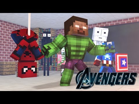 Monster School: BECOMING A SUPERHERO CHALLENGE - Minecraft Aimation
