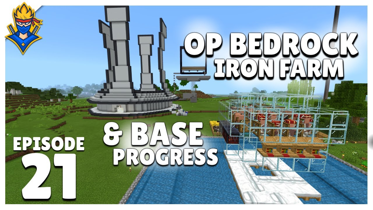 OP Bedrock Iron Farm, Base Progress & Offline Masti - Bond 2   Minecraft Hindi