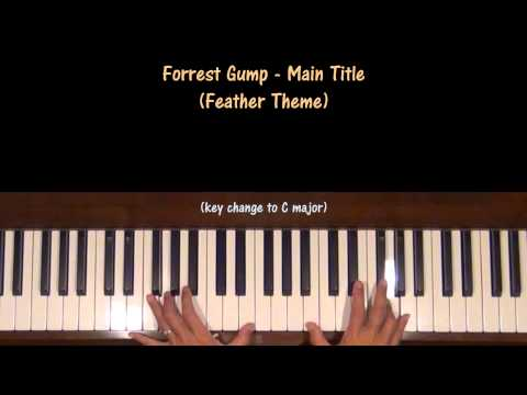 Forrest Gump Main Title Feather Theme Piano Tutorial