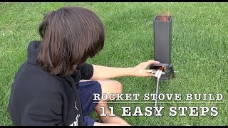 ROCKET STOVE - HOW TO MAKE ONE IN 11 STEPS