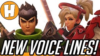 Overwatch - New Valentines Voice Lines, Hanzo and Oasis Interactions!
