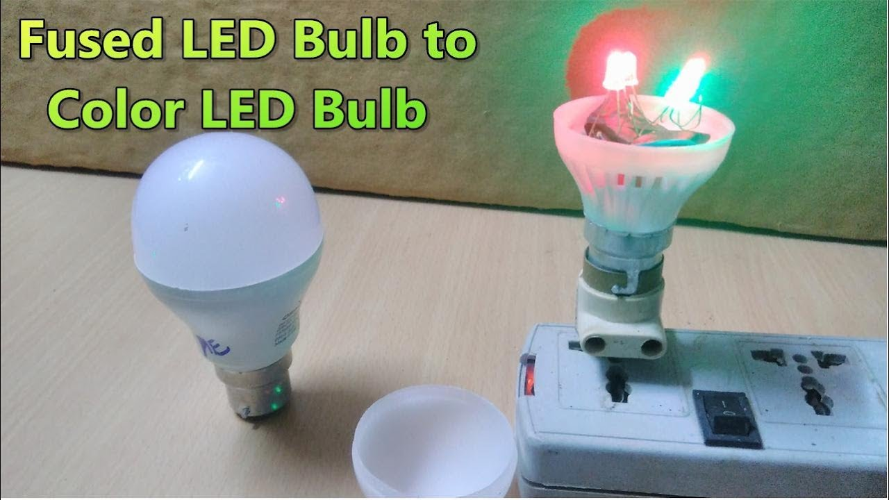 Fused Led Lamp Convert Replace Color Lights Using Transformerless Supply
