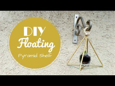 DIY Floating Pyramid Shelf | Pyramid Room Decor | by Fluffy Hedgehog
