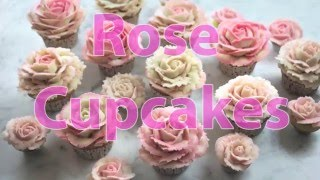How to Pipe Buttercream Roses for Cupcakes