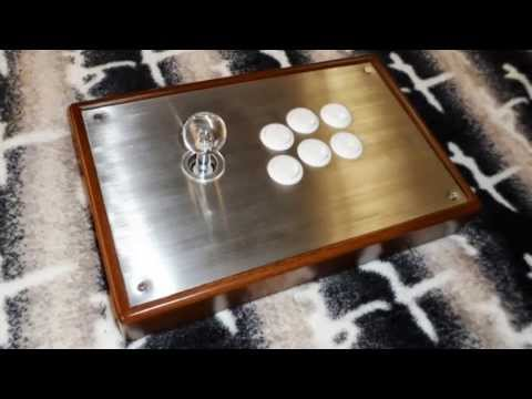 WOOD AND METAL CUSTOM ARCADE FIGHT STICK PS3 XBOX 360 PC