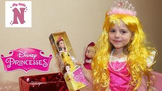 Принцессы Диснея Принцесса Аврора Белль Подарки куклы украшения и сладости от Disney