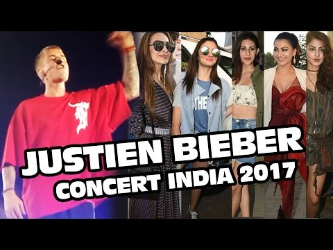 Justin Bieber Concert In India 2017 | Full HD Video | Alia Bhatt, Malaika Arora, Urvashi Rautela