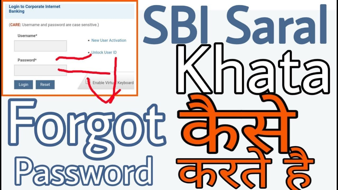 www.onlinesbi.com saral khata