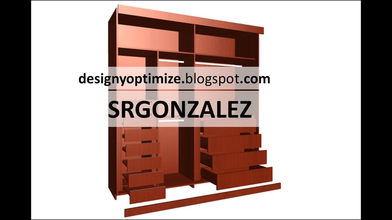 Aprende a crear tu propio closet o armario en mdf melamina for Programa para hacer muebles de melamina gratis