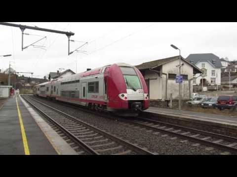Les trains dans le nord du Luxembourg