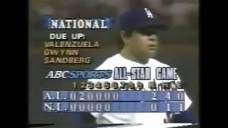1986 MLB All-Star Game: Fernando Valenzuela vs Teddy Higuera