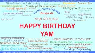 Yam   Languages Idiomas - Happy Birthday